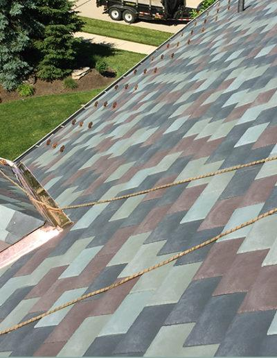 Roof replacement copper trim CJS Roofing in Fenton