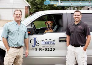 CJS Roofing St. Louis Chris Sielfleisch Ryan and dog Fenton