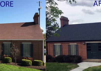 CJS roofing Sielfleisch St. Louis before & after
