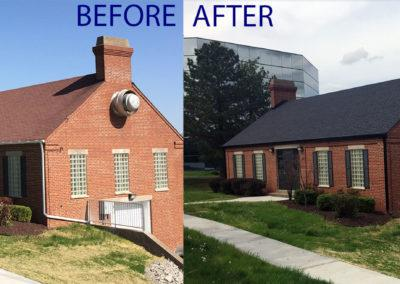 New St. Louis roof before and after