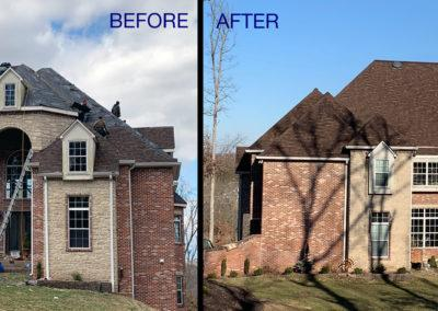 CJS Roofing Before After 2019 home roof