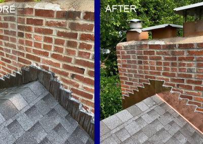 Chimney Roofing Before After Chimney
