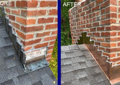 CJS Roofing Before After Chimney